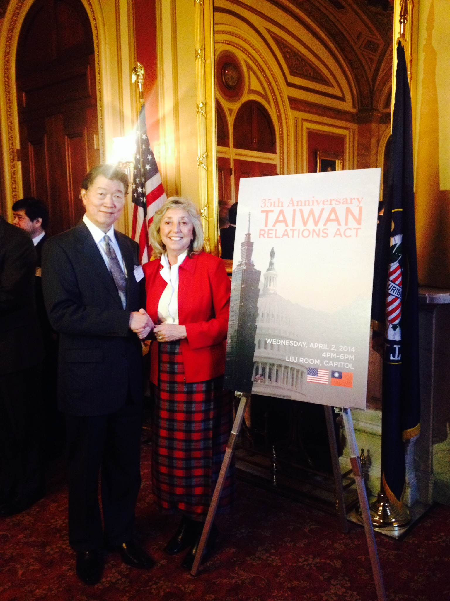 Titus, Congressional Taiwan Caucus Celebrate the 35th Anniversary of the Taiwan Relations Act